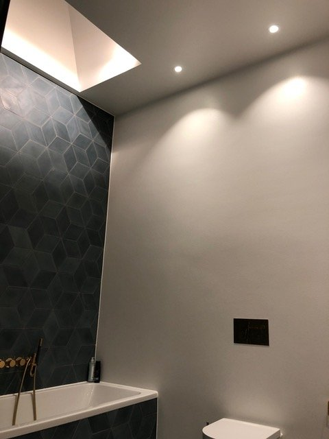 Belysning på badeværelse